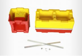 Plastic concrete block mould